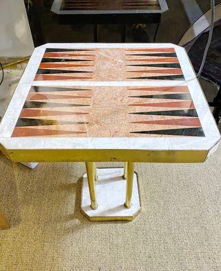MESA DE DISEÑO EN MÁRMOL AÑOS 60 Backgammon