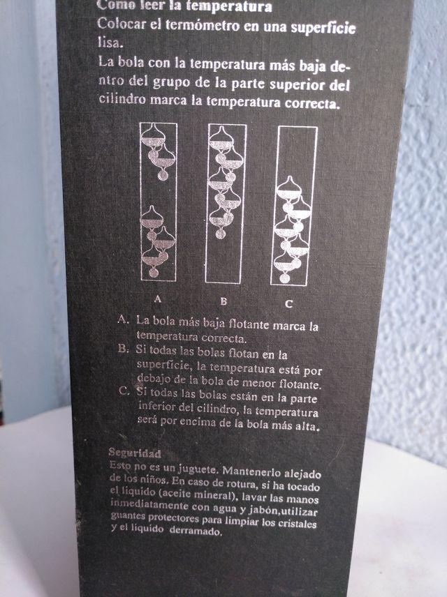 termómetro Galileo
