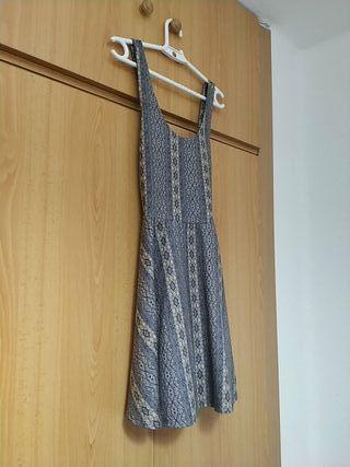 vestido mujer gris estampado (M)