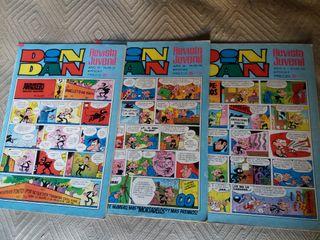lote 3 tebeos Din y Dan 1980-1982. cómic
