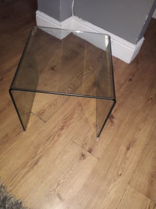 Small glass nightstand