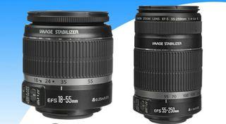 Objetivos Canon EF-S 18-55 y 55-250