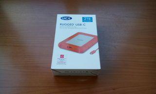 Disco Lacie Rugged USB-C 2TB nuevo precintado