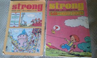 tebeos Strong. cómic. revistas números 50 y 77