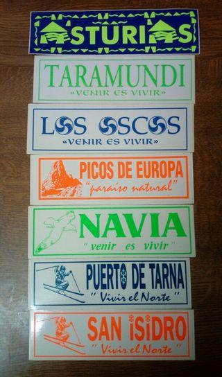 7 pegatinas Asturias años 80-90