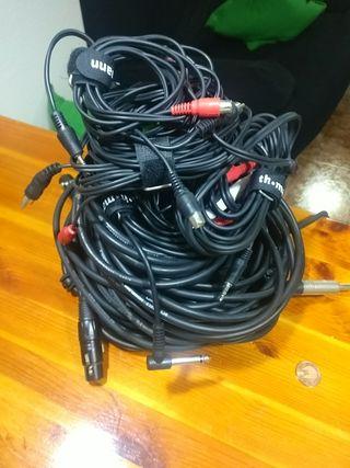 Cables XLR Canon, Jack, RCA, Minijack...