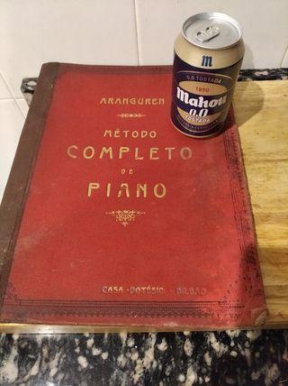 Libro Método Completo Piano S. XIX. de Aranguren.