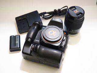 Sony A580 + 18-70 y empuñadura.