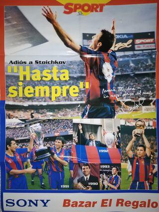 Poster FC Barcelona Homenaje Stoichkov