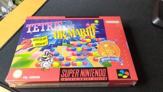 Tetris & Dr Mario precintado para snes