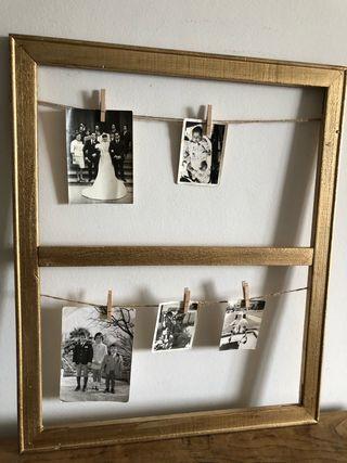 Marco cuerdas fotos dorado 55 x 65
