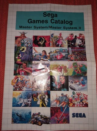 Póster Catálogo Original Sega Máster System