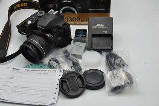 Nikon D3300 24MP obj 18-55 DX VR, 26000 fotos.