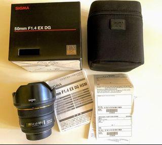Sigma 1.4 50mm