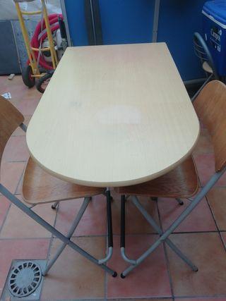 mesa cocina con 4 banquetas