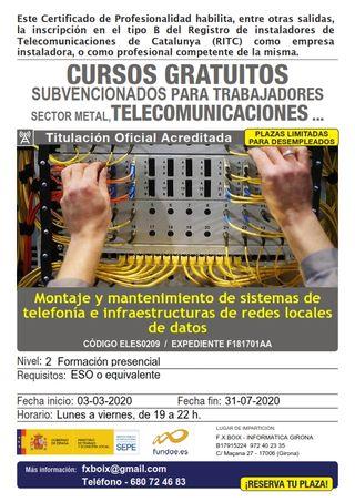 Curso instalacion redes locales, fibra, centralita
