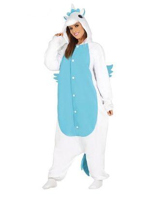 Pijama unicornio azul