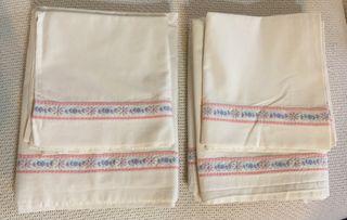2 sábanas + funda almohada algodon