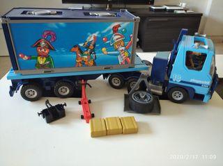 Playmobil,camión,soldados,lote,trailer,furgon