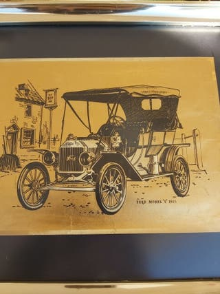 CUADRO VINTAGE MODELO FORD T 1915
