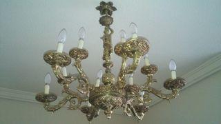 Lámparas araña bronce techo