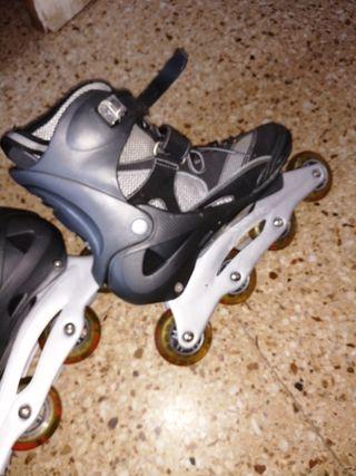 Botas patín ruedas sin frenos 43