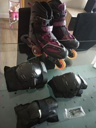patines de línea (37/40) y protectores