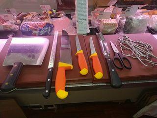 cuchillos tajo tablas corte carnicería