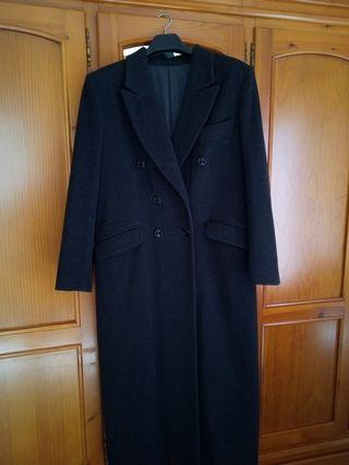 Abrigo clásico lana gris marengo talla 46