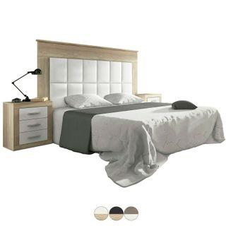 Cabezal alto tapizado símil piel dormit con patas
