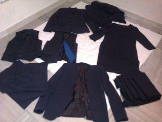 (12)UNIFORMES,chaquetas,chalecos,pantalones NUEVOS