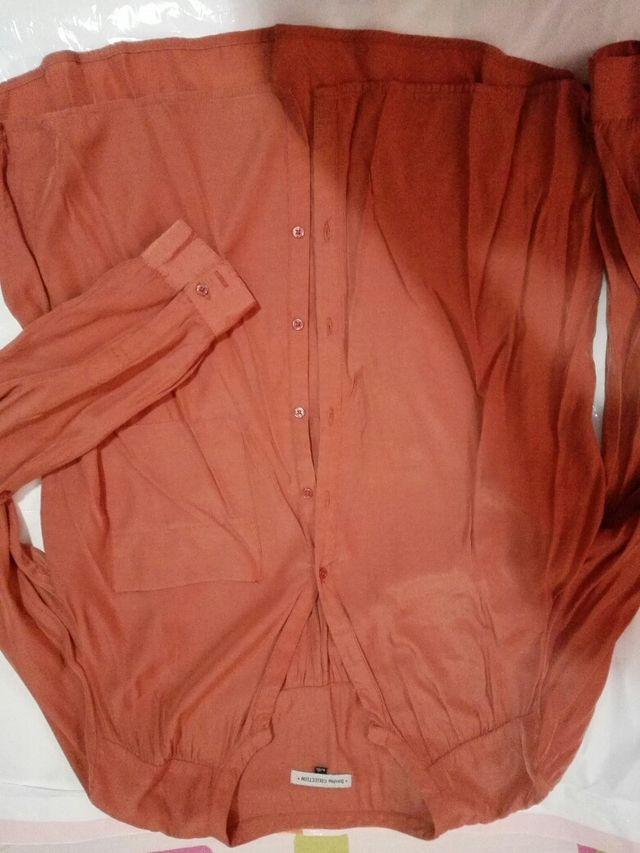 camisa talla L bershka mujer manga larga