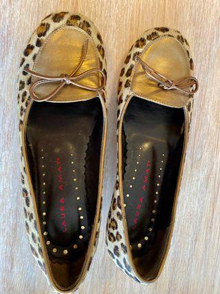 Zapatos Laura Amat piel de potro
