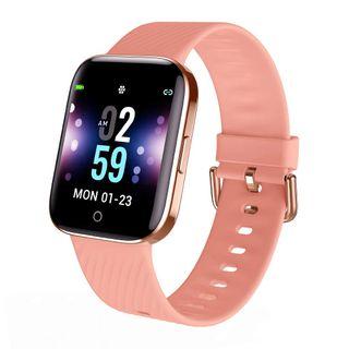 Reloj inteligente rosa IP68
