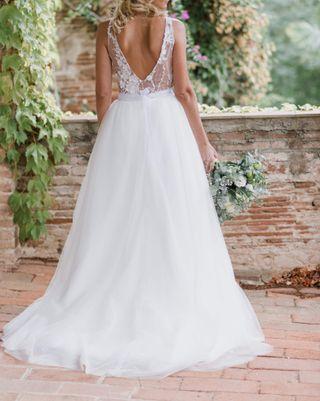vestido de novia estilo pronovias 36 38