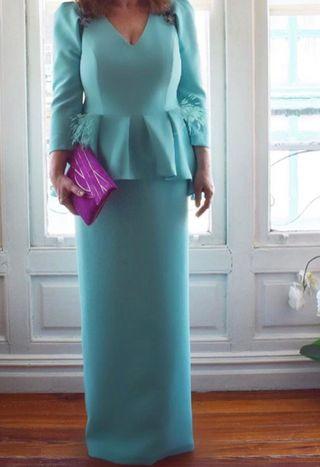 Vestido invitada boda, diseñadora Alicia Rueda.