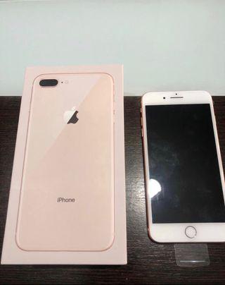 iPhone 8 Plus Gold de 64GB, nuevo, 100% Bateria!!!