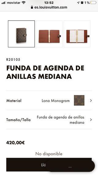 LOUIS VUITTON Agenda Mediana Monogram