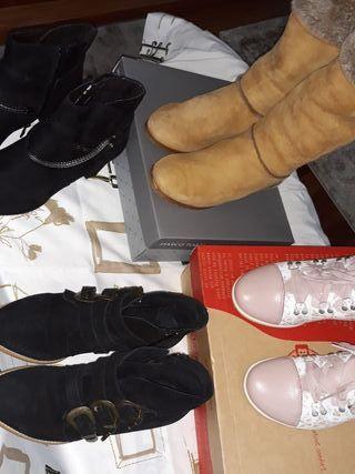 Lote de botines y botas