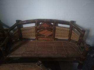 terraza de bambú