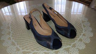 Zapatos Pitillo azul marino