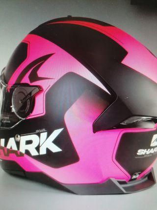 casco integral shark swal 2 mate rosa negro