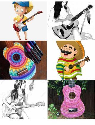 clases de guitarra , clásica y española .