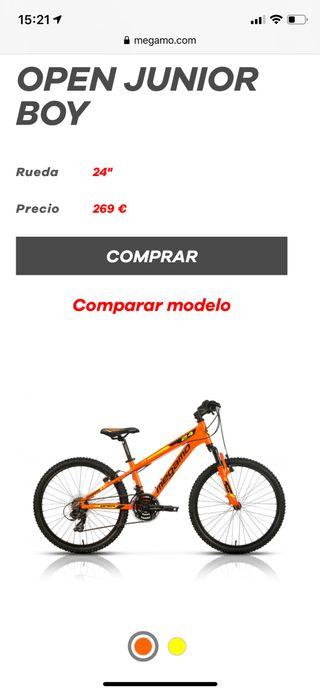 "Bici Megamo Open Junior 24"""