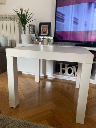 LACK Mesa Ikea auxiliar, blanco, 55x55 cm