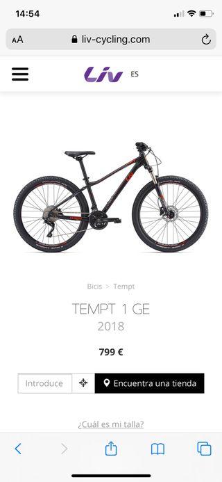 Bicicleta LIV Chica Giant Tempt 1