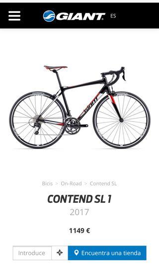 Bici Giant Contend SL 1 T/L