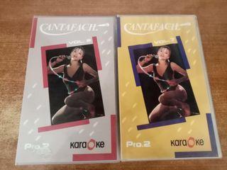 2 VHS de Karaoke.