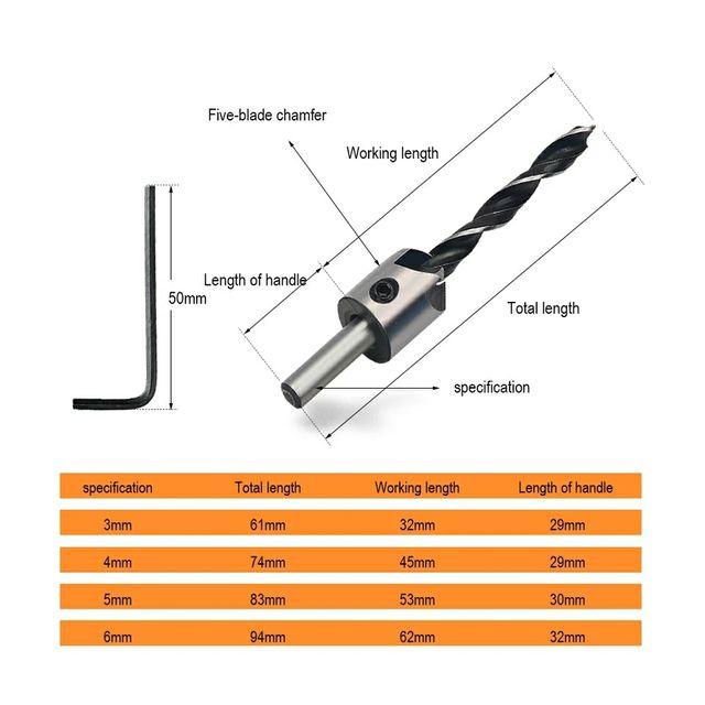 Broca taladro 3-6mm