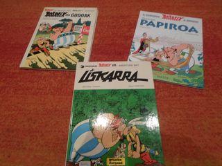 3 comic asterix tapa dura euskera colección